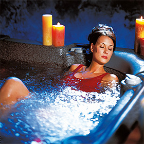relax in your own saratoga spa